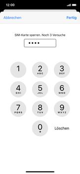 Apple iPhone X - iOS 14 - Startanleitung - So aktivieren Sie eine SIM-PIN - Schritt 7