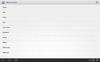 Samsung P7500 Galaxy Tab 10-1 - MMS - Manual configuration - Step 7