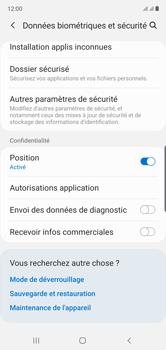 Samsung Galaxy Note10 - Securité - Modifier le code PIN de la carte SIM - Étape 5