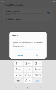 Samsung galaxy-tab-a-8-0-lte-2019-sm-t295 - Beveiliging en ouderlijk toezicht - Hoe wijzig ik mijn SIM PIN-code - Stap 8