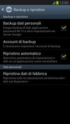 Samsung Galaxy Note II - Dispositivo - Ripristino delle impostazioni originali - Fase 6