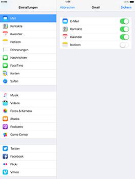 Apple iPad Mini 4 - iOS 10 - E-Mail - Konto einrichten (gmail) - Schritt 8