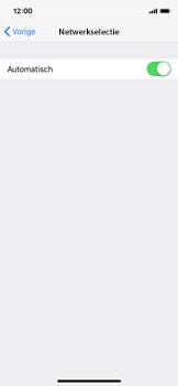 Apple iPhone XS - Netwerk selecteren - Handmatig een netwerk selecteren - Stap 6