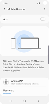Samsung Galaxy S10e - WiFi - So aktivieren Sie einen WLAN-Hotspot - Schritt 8