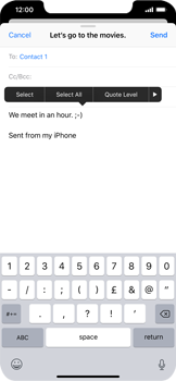 Apple iPhone XR - Email - Sending an email message - Step 9