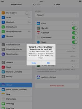 Apple iPad Retina iOS 7 - Applicazioni - Configurazione del servizio Apple iCloud - Fase 7