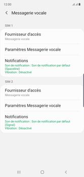 Samsung Galaxy Note10 - Messagerie vocale - configuration manuelle - Étape 8