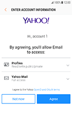 Samsung Galaxy Xcover 4 - E-mail - Manual configuration (yahoo) - Step 9