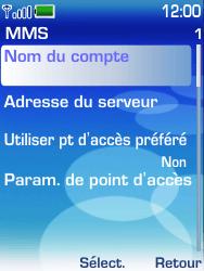 Nokia 6233 - MMS - configuration manuelle - Étape 8