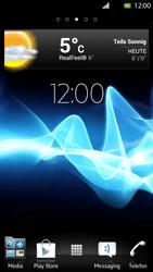 Sony Xperia S - Startanleitung - Installieren von Widgets und Apps auf der Startseite - Schritt 7