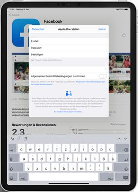 Apple iPad Mini 4 - ipados 13 - Apps - Einrichten des App Stores - Schritt 10