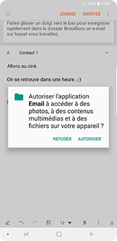 Samsung Galaxy Note9 - E-mail - envoyer un e-mail - Étape 11