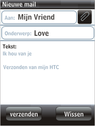HTC F3188 Smart - E-mail - hoe te versturen - Stap 8