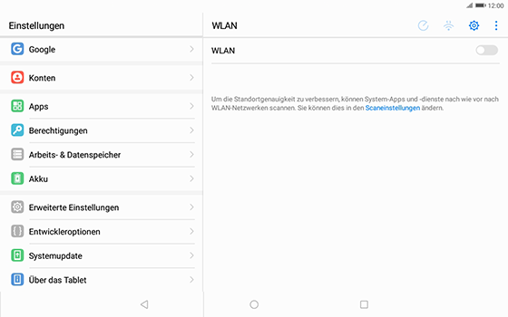 Huawei MediaPad T3 (10.0) LTE - Fehlerbehebung - Handy zurücksetzen - 7 / 12