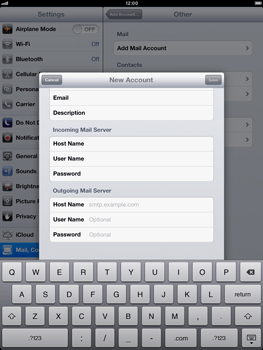 Apple iPad Retina - E-mail - Manual configuration - Step 12