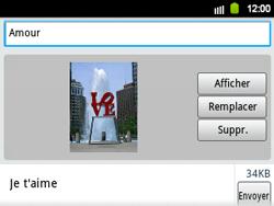Samsung B5510 Galaxy TXT - MMS - envoi d'images - Étape 12