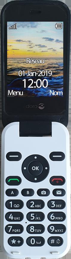 Doro 6620 - Premiers pas - Découvrir les touches principales - Étape 2