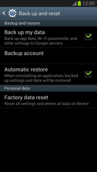 Samsung Galaxy Note II - Mobile phone - Resetting to factory settings - Step 5