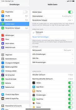 Apple iPad Pro 11 (2018) - iPadOS 13 - Internet und Datenroaming - Deaktivieren von Datenroaming - Schritt 4