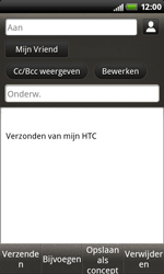 HTC S510b Rhyme - E-mail - E-mails verzenden - Stap 8