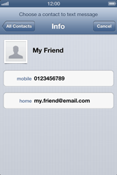 Apple iPhone 4 S iOS 6 - MMS - Sending a picture message - Step 5