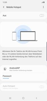 Samsung Galaxy Note 10 Plus 5G - WiFi - So aktivieren Sie einen WLAN-Hotspot - Schritt 7