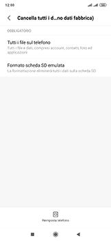 Xiaomi Mi Mix 3 5G - Dispositivo - Ripristino delle impostazioni originali - Fase 7