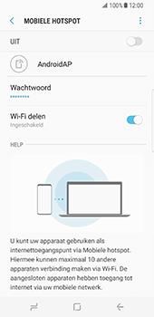 Samsung Galaxy S8 (G950) - WiFi - Mobiele hotspot instellen - Stap 8