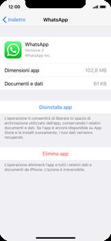 Apple iPhone X - Applicazioni - Come disinstallare un