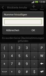 HTC T328e Desire X - Anrufe - Anrufe blockieren - Schritt 6