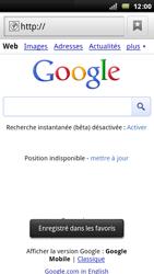 Sony Xperia Arc - Internet - Navigation sur Internet - Étape 6