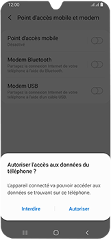 Samsung Galaxy A40 - Internet et connexion - Utiliser le mode modem par USB - Étape 7