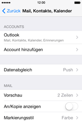 Apple iPhone 4S iOS 7 - E-Mail - 032c. Email wizard - Outlook - Schritt 10