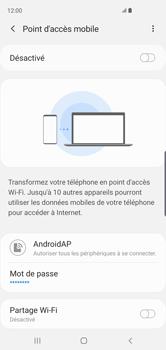 Samsung Galaxy S10 - Internet et connexion - Partager votre connexion en Wi-Fi - Étape 8