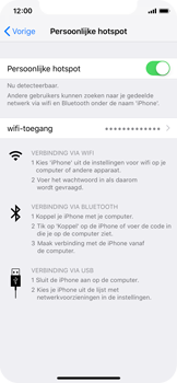 Apple iPhone XS - Internet - mijn data verbinding delen - Stap 8