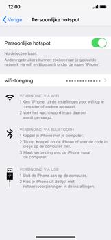 Apple iPhone XS - Internet - Stel mobiele hotspot in - Stap 8