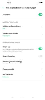 Oppo Find X2 - Internet und Datenroaming - Deaktivieren von Datenroaming - Schritt 7