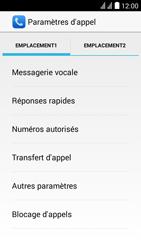 Huawei Y625 - Messagerie vocale - configuration manuelle - Étape 7