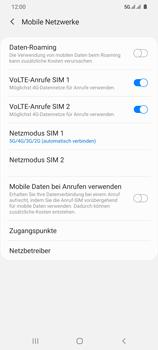 Samsung Galaxy S20 Ultra 5G - Netzwerk - So aktivieren Sie eine 5G-Verbindung - Schritt 8