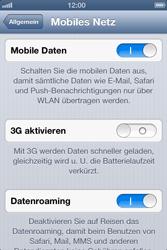 Apple iPhone 4S - Ausland - Auslandskosten vermeiden - Schritt 7