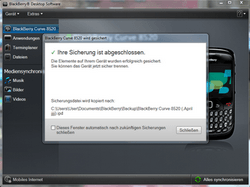BlackBerry 8520 Curve - Software - Sicherungskopie Ihrer Daten erstellen - Schritt 11