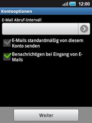 Samsung S5570 Galaxy Mini - E-Mail - Konto einrichten - Schritt 16