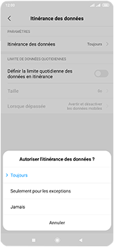 Xiaomi Mi Mix 3 5G - Internet et roaming de données - Désactivation du roaming de données - Étape 6