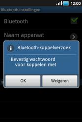 Samsung S5660 Galaxy Gio - Bluetooth - headset, carkit verbinding - Stap 8