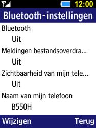 Samsung B550H Xcover 550 - bluetooth - aanzetten - stap 6