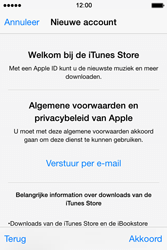 Apple iPhone 4S (iOS 8) - apps - account instellen - stap 11