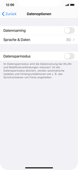 Apple iPhone XS - iOS 14 - Netzwerk - So aktivieren Sie eine 4G-Verbindung - Schritt 5