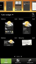 HTC One S - Operazioni iniziali - Installazione di widget e applicazioni nella schermata iniziale - Fase 6