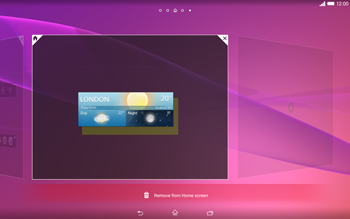 Sony Xperia Tablet Z2 LTE - Getting started - Installing widgets and applications on your start screen - Step 6