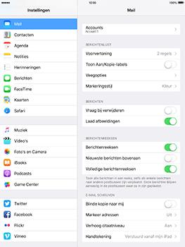 Apple iPad Pro 9.7 - iOS 10 - E-mail - e-mail instellen: IMAP (aanbevolen) - Stap 16